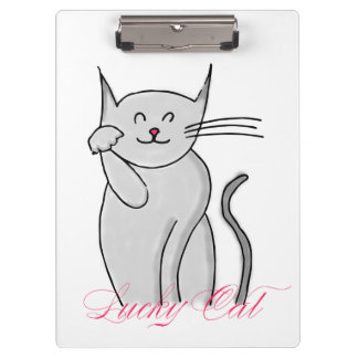Lucky Cat Clipboard