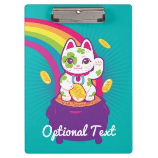 Lucky Cat Maneki Neko Good Luck Pot of Gold Clipboard