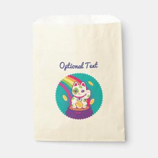 Lucky Cat Maneki Neko Good Luck Pot of Gold Favour Bags