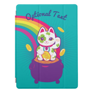 Lucky Cat Maneki Neko Good Luck Pot of Gold iPad Pro Cover