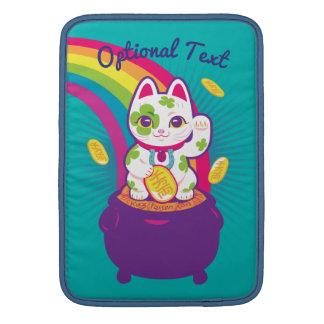 Lucky Cat Maneki Neko Good Luck Pot of Gold Sleeve For MacBook Air