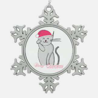 Lucky Cat Merry Christmas Good Fortune Ornament