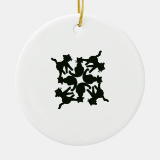 lucky cat pattern,cat picture art round ceramic decoration