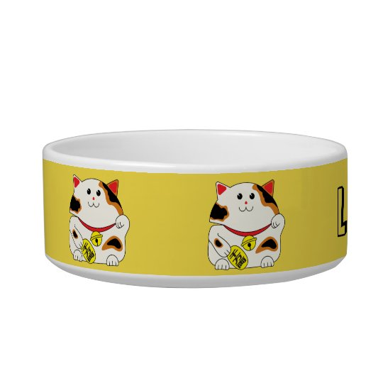 Lucky cat pet bowl