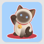 Lucky Cat Square Sticker