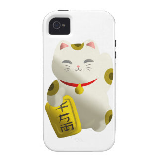 Lucky Cat White Vibe iPhone 4 Cases