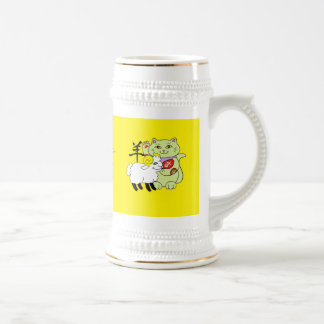 Lucky Cat Year of the Sheep Beer Steins