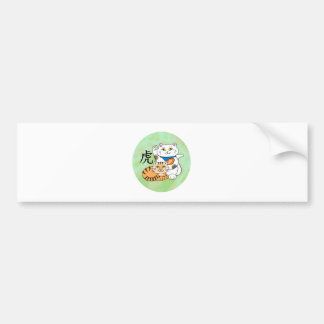 Lucky Cat Year of the Tiger Bumper Sticker