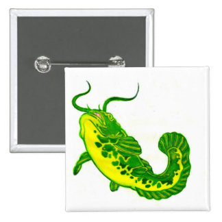 Lucky Catfish 15 Cm Square Badge