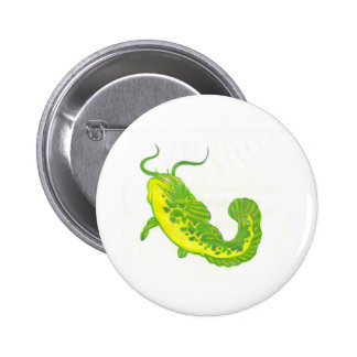 Lucky Catfish 6 Cm Round Badge