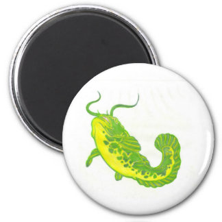 Lucky Catfish 6 Cm Round Magnet