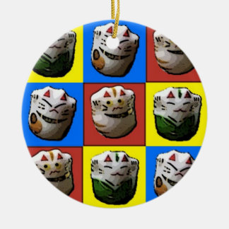 Lucky Cats Christmas Ornament