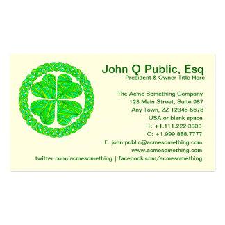 Lucky Celtic Shamrock Business Cards