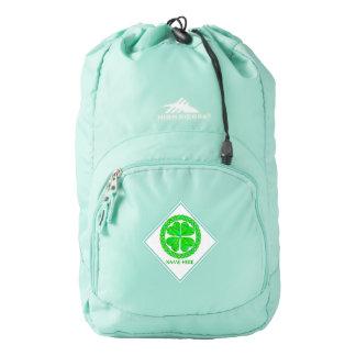 Lucky Celtic Shamrock Four Leaf Clover Green Backpack
