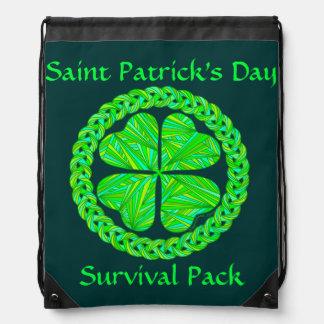 Lucky Celtic Shamrock St. Patrick's Survival Pack Rucksacks