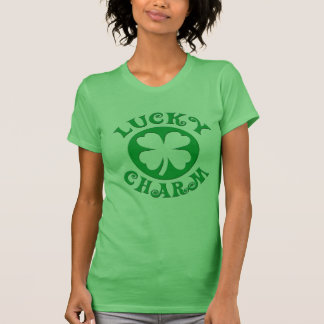 Lucky Charm Irish Four Leaf Clover T-Shirt, Ladies T-Shirt