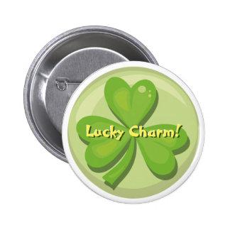 Lucky Charm Shamrock Button