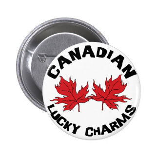 Lucky Charms Canadian 6 Cm Round Badge