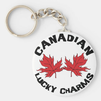Lucky Charms Canadian Basic Round Button Key Ring