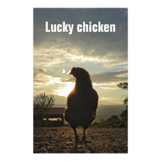 Lucky chicken 01.2T Customised Stationery