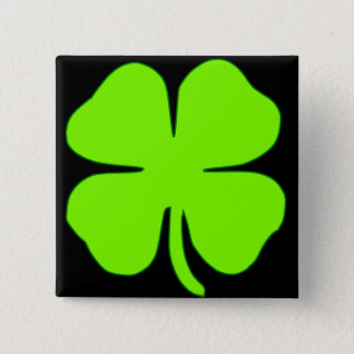 Lucky clover 15 cm square badge