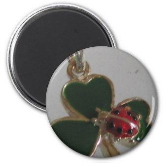 lucky clover and ladybird fridge magnet