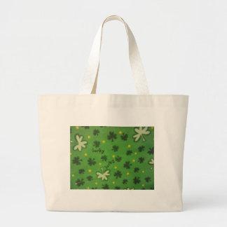 Lucky Clover Jumbo Tote Bag