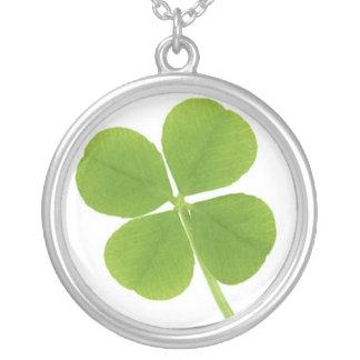 Lucky Clover Round Pendant Necklace