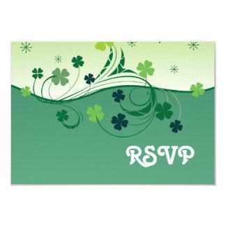 Lucky Clover RSVP card