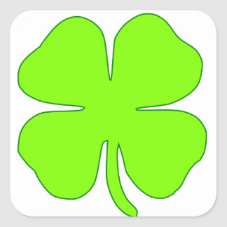 Lucky clover square sticker