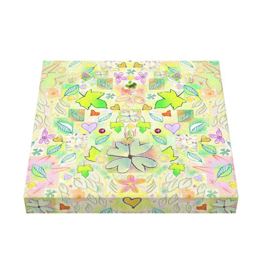 Lucky clover Wrapped Canvas