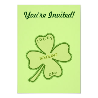 """Lucky Day Bowling 5"""" X 7"""" Invitation Card"""