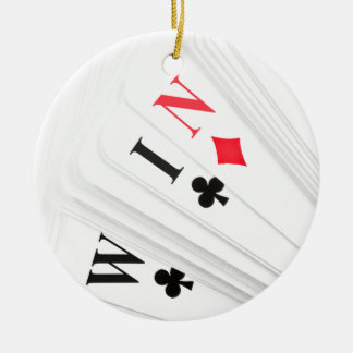 Lucky deal. round ceramic decoration