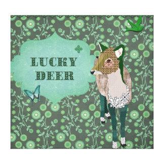 Lucky Deer Canvas Art Gallery Wrap Canvas