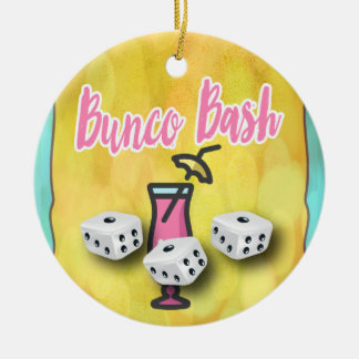 Lucky Dice Bunco Bash Christmas Ornament