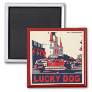 Lucky Dog French Quarter Magnet