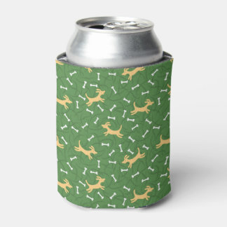 lucky dogs with bones background can cooler