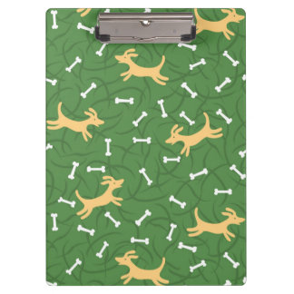lucky dogs with bones background clipboard