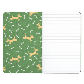 lucky dogs with bones background journal