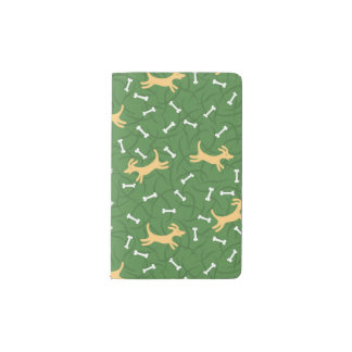 lucky dogs with bones background pocket moleskine notebook