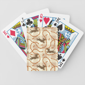 lucky dogs with sausages background bicycle playing cards