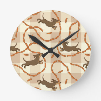 lucky dogs with sausages background clocks