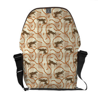 lucky dogs with sausages background courier bag
