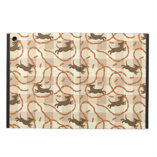 lucky dogs with sausages background iPad air case