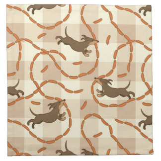lucky dogs with sausages background napkin