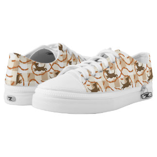 lucky dogs with sausages background printed shoes