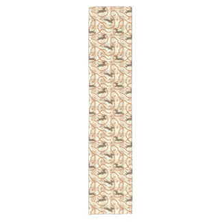 lucky dogs with sausages background short table runner