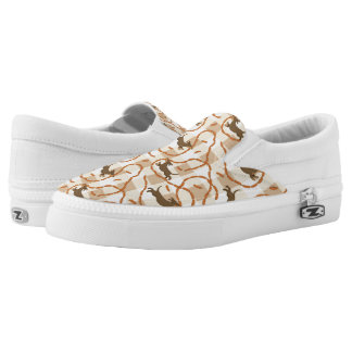 lucky dogs with sausages background Slip-On shoes