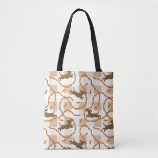lucky dogs with sausages background tote bag