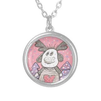 Lucky Elk Round Pendant Necklace